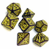 Brown & Yellow Steampunk Dice Set
